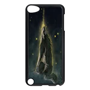 [H-DIY CASE] FOR Ipod Touch 5 -Wolf,Wolves and Moon Pattern-CASE-7