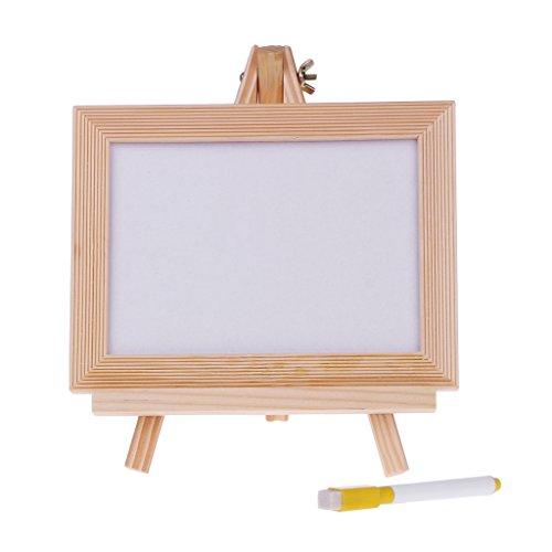 Onpiece Whiteboard Set - Small Dry Erase Board 7 x 5'' + 1 Dry Erase Black Marker, Mini White Message (5' Chalkboard Eraser)
