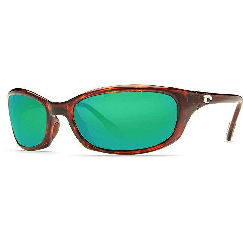 Polarized Green Mirror 400 Glass - Costa Del Mar Harpoon Polarized Sunglasses, Tortoise, Green Mirror 400 Glass
