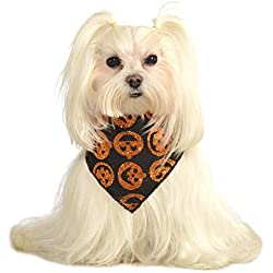 Rubie's Costume Co Glitter Pumpkin Pet Bandana, Medium/Large