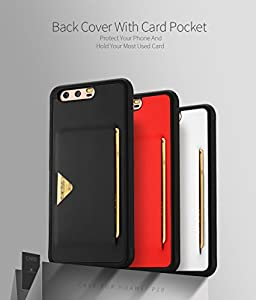 HUAWEI P10 Case, DUX DUCIS Ultra Slim Card Pocket Back Cover Advanced Slip Resistant / Shock Resistant Protective Leather Case with 1 Card Slots Holder for P10
