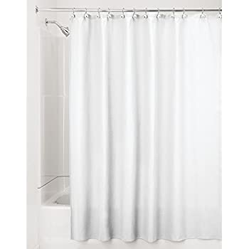 InterDesign York Hotel Fabric Cotton And Polyester Blend Shower Curtain Wide 108 X