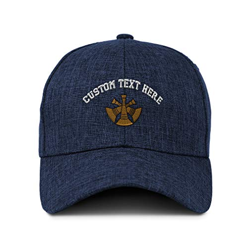 Custom Twill Baseball Cap Assistant Chief Embroidery Design Acrylic Casual Hats for Men & Women Hook & Loop Navy Personalized Text Here