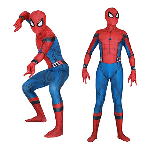 Seven Plus Unisex Lycra Spandex Zentai Halloween Cosplay Costumes Adult/Kids 3D Style (Adults-XXL Red and Blue ... ()