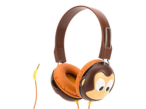 Griffin Volume-Limiting Monkey KaZoo MyPhones Headphones - Over the Ear Headphones for Kids