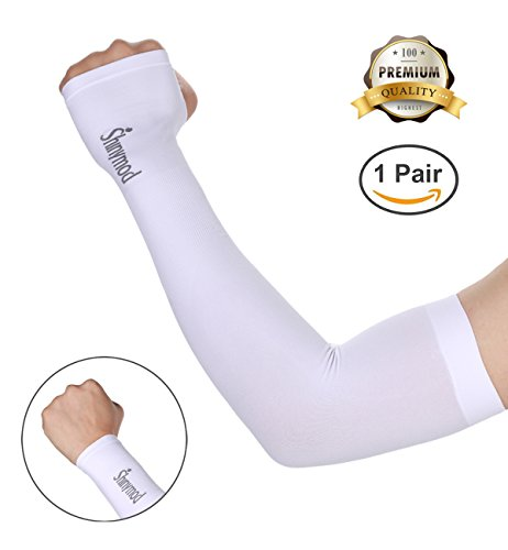 on Cooling or Warmer Arm Sleeves for Men Women Kids Sunblock Protective Gloves Running Golf Cycling Driving 1 Pair/ 3 Pairs/ 5 Pairs Long Tattoo Cover Arm Warmer(1 Pair White) (Cycling Golf)