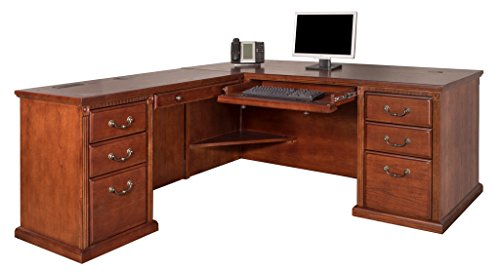 Martin Furniture Huntington Oxford Office Left L-Shaped Desk, Burnish Finish