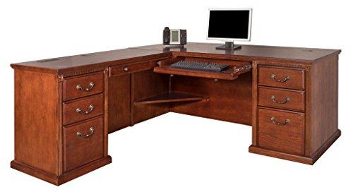 Drawer File Four Oxford (Martin Furniture Huntington Oxford Office Left L-Shaped Desk, Burnish Finish)