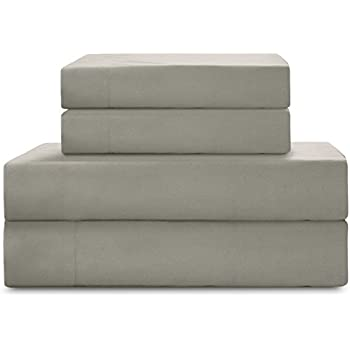 HollyHOME 1500 Soft Hypoallergenic Brushed Microfiber Bed Sheet Set, 3 Pieces Twin Size Sheets, Grey