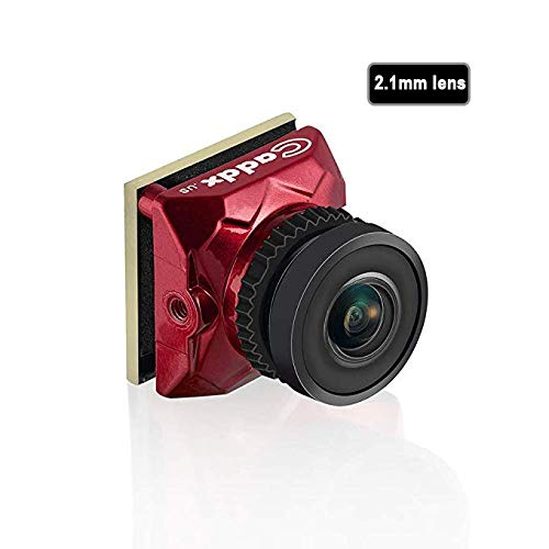 Caddx Ratel Newest FPV Camera 1/1.8'' Starlight HDR OSD 1200TVL 16:9 NTSC 2.1mm Lens for FPV Quadcopter Racing Drone (Red) (Best Lens For Fpv)