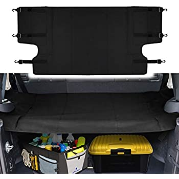 60f12d6b Cargo Cover Shield Pad Rear Trunk Protector Shade Compatible for Jeep  Wrangler JK JKU Sports Sahara Freedom Rubicon X & Unlimited 2007-2018