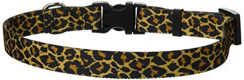 (Yellow Dog Design Standard Easy-Snap Collar, Leopard Skin, Medium 14