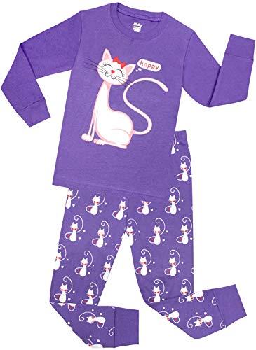 Little Girls Cat Pajamas Toddler Sleepwear Children Cotton
