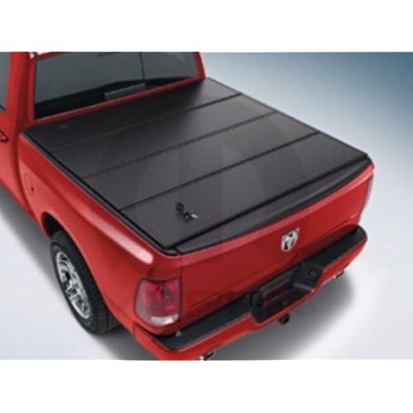 Amazon Com Mopar Ram 1500 Black Folding Tonneau Bed Cover 5 7 Ft Bed Oem Automotive