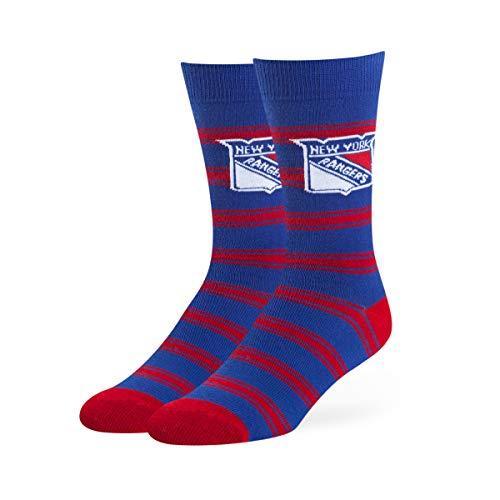 OTS NHL New York Rangers Male Shephard Dress Socks, Royal, -