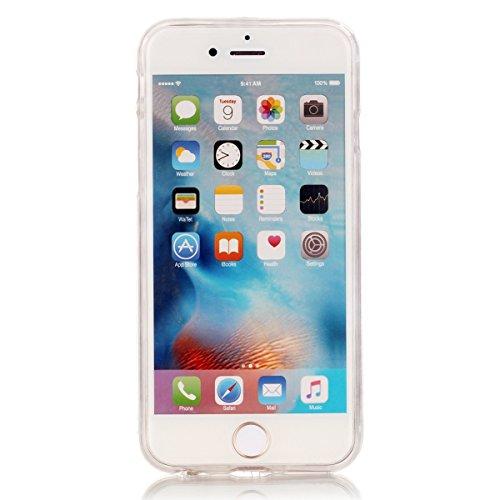 iPhone 6S Plus Etui Coque TPU, E-Lush Anti-rayures Mince Coque pour Apple iPhone 6 Plus (5.5 pouces) Flexible Souple Silicone Coque Couverture Legere Transparente Housse de Protection Absorption des C