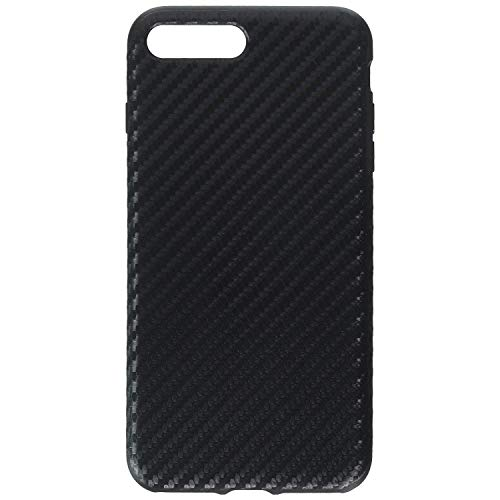 (iPhone 7 Plus Case, Rock [Carbon Fiber] - [Light Thin Cover] [Non Slip] [Fingerprint Free] Case for iPhone 7 Plus - Black)