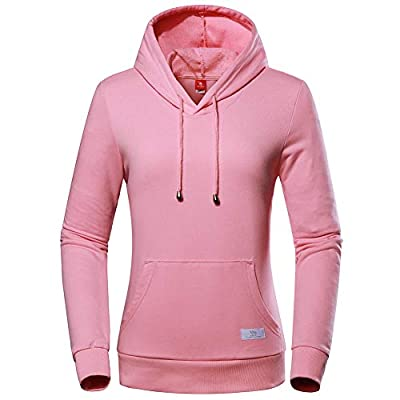 Women's Hoodie, Long Sleeve Cotton Fleece Pullover Midweight Hooded Active Sweatshirt