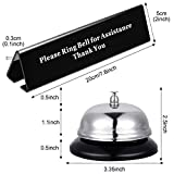 Desk Service Dinner Bell Metal Construction Call
