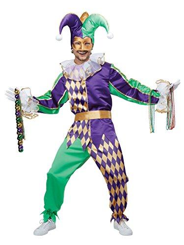 California Costumes Men's Mardi Gras Jester, Multi Small -