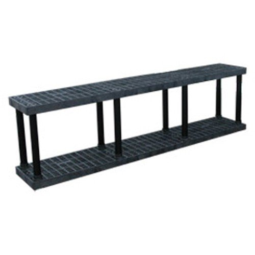 Dura Shelf Shelving - Structural Plastics Dura-Shelf Plastic Shelving With Fixed Shelves - 96