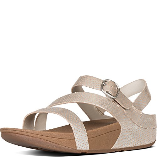 d8ac4f24c8637d FitFlop Women s The Skinny Z-Strap Leather Sandals Silver Snake 11 - Buy  Online in UAE.