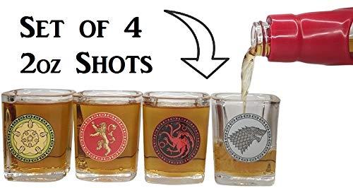 Game of Thrones House Sigil Shot Glass Set (Set of 4) by Rabbit Tanaka (Image #2)