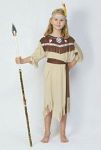 Partypackage Ltd Childrens Girls Indian Squaw Costume For Wild West Native Fancy Dress (Wild West Costumes Indians)