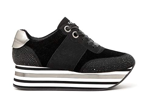 jdc903 Sneakers Noir Cod i A Macrosuola Donna 2018 Cafe' Dc903 Righe 19 1Rqa6TARfw