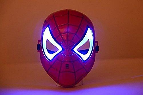 [Oliadesign® Comics Costume Superhero LED Light Eye Mask (Spiderman)] (Spiderman Mask Kids)