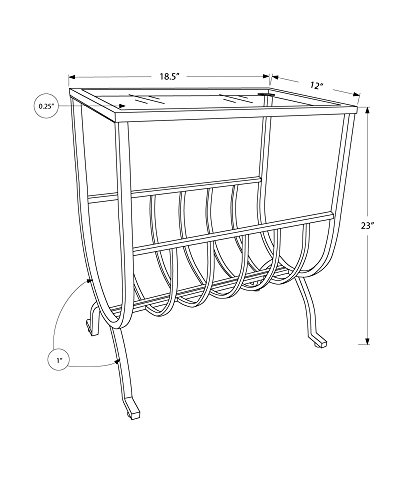 end table magazine rack - 5