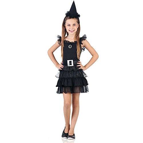 Fantasia Bruxinha Black Infantil Sulamericana Fantasias Preto M 6/8 Anos