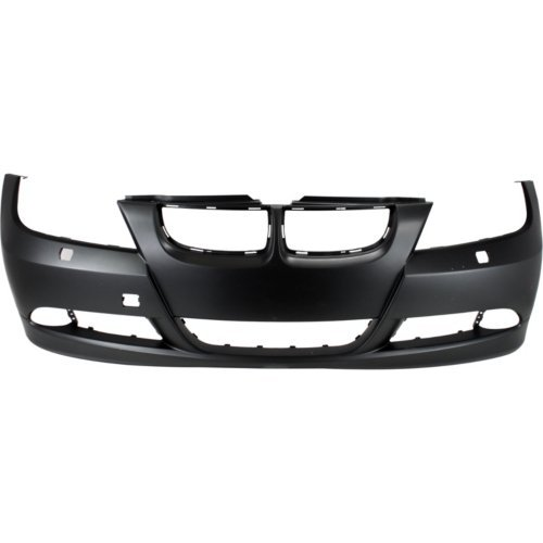 Front Bumper Cover Compatible with 2006-2008 BMW 323i/325i 2006 Primed with HLW Holes Sedan/Wagon