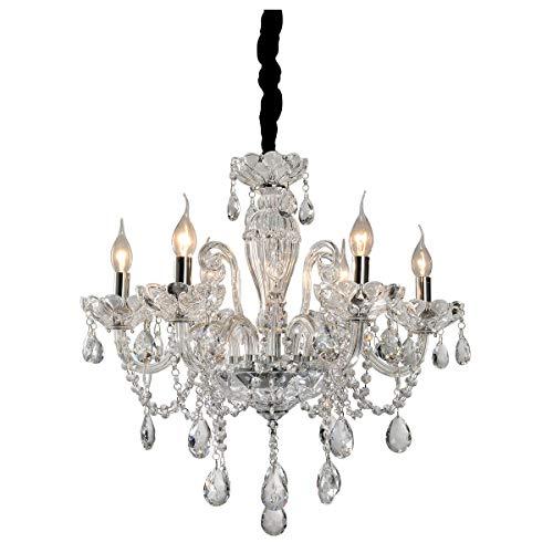 Lustre Ely Cristal, 160x61, Metal, vidro e cristais, transparente