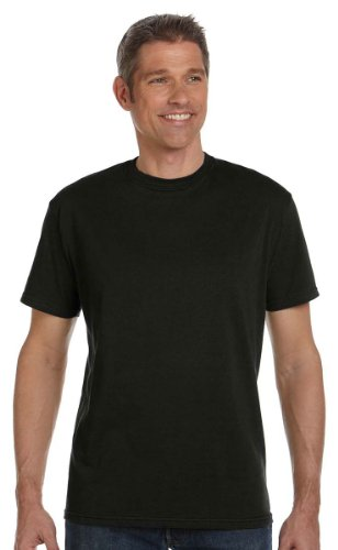 econscious Men's 100% Organic Cotton Short Sleeve Tee (Black, Small)