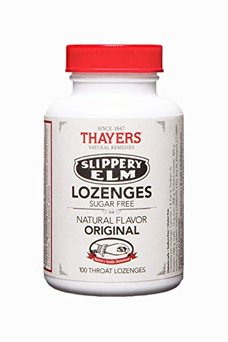 Thayers Sugar-Free Original Slippery Elm Lozenges, 100 Count