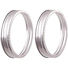 Stainless Steel Jar Bands - Durable and Rust-free Canning Rings - By EcoJarz (2 Wide Mouth Jar Bands)