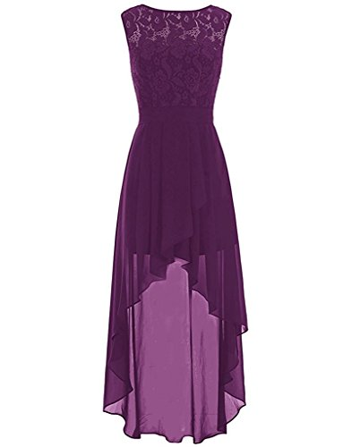 VaniaDress Women Sleeveless Lace Hilo Prom Dress Evening Gown V085LF Plum US4 from VaniaDress