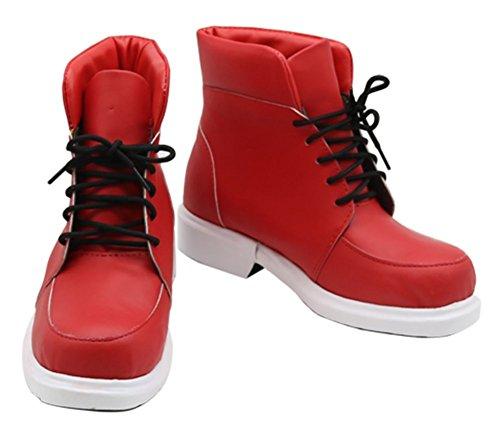 Halloween My Hero Academia Boku no Hero Academia Izuku Midoriya Shoes Red Cosplay Boots Custom Made (Female 6.5) ()