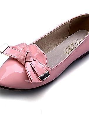 PDX/Damen Schuhe Kunstleder Flach Ferse Spitz Toe Wohnungen Casual Schwarz/Blau/Rot, - blue-us5.5 / eu36 / uk3.5 / cn35 - Größe: One Size