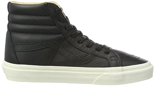 Vans Lux Adults' Unisex Leather Black Porcini Trainers Sk8 Black Leather Reissue hi r1rS6wx