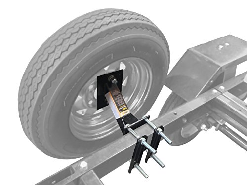 (MaxxHaul 70214 Powder Coat Black Trailer Spare Tire Carrier)