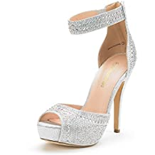 DREAM PAIRS Women's Swan High Heel Plaform Dress Pump Shoes