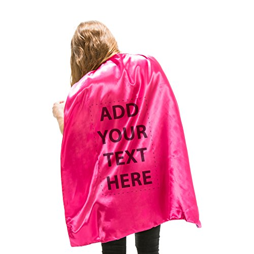 Reversible Adult Pink and Pink Superhero Custom Personalized Costume Cape (Adult)