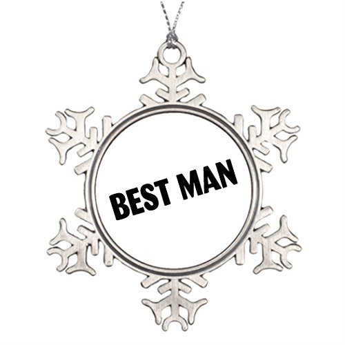 Metal Ornaments Best Man Best Man Black Tree Branch Decoration Snowflake Ornaments For Christmas Tree