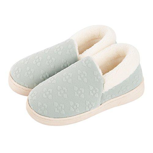 Chaussons DWW Pantoufles en Coton Pur DHiver Antidérapant Intérieur Féminin Intérieur Coton Confortable et Respirant (Couleur : Pattern 4, Taille : EUR:40-41)