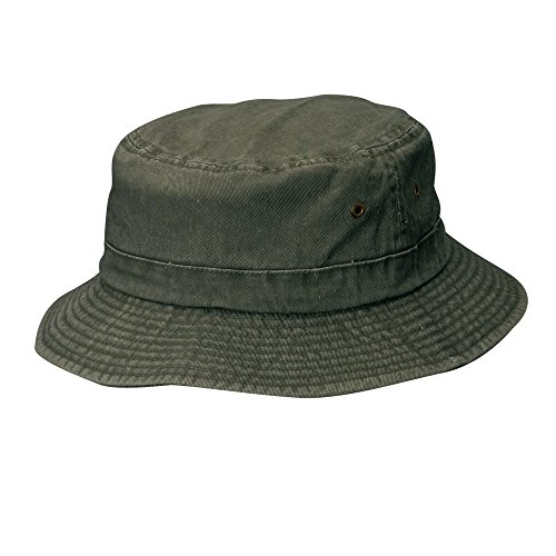 Dorfman Pacific Cotton Packable Summer Travel Bucket Hat, 3X, Stone(Green) (Packable Cotton)