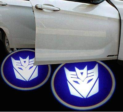 2Pcs For Blue Transformers WIRELESS LED CAR DOOR WELCOME LOGO PROJECTORS LIGHTS