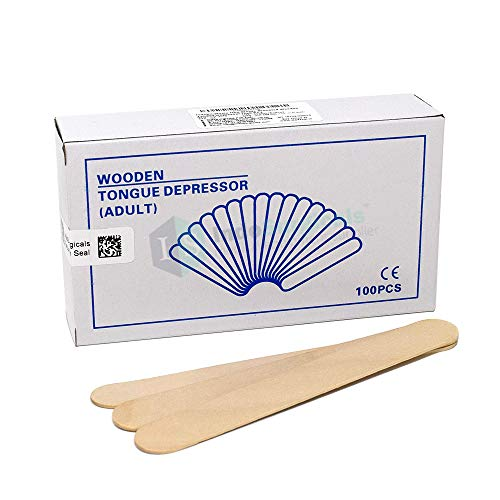 IS IndoSurgicals Non-Sterile Standard Wooden Tongue Depressor (100 Piece) Price & Reviews