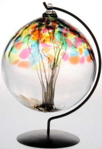 Summer Tree of Life Large Glass Friendship Ball